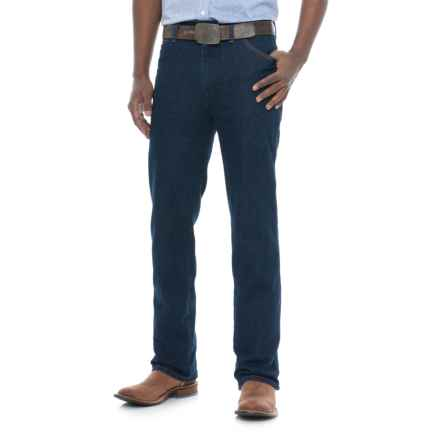 Wrangler Cowboy Cut Stretch Jeans - Regular Fit (For Men) in Dark Stone Wash - Closeouts