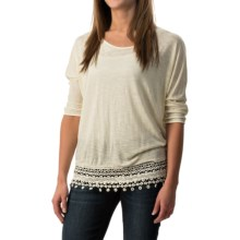 Wrangler Crocheted-Hem Shirt - 3/4 Dolman Sleeve (For Women) in Vanilla Ice - Closeouts
