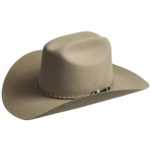 Wrangler Crockett Hat - 4X Felt, Cattleman Crown (For Men) in Buck - Closeouts
