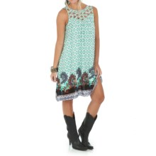 Wrangler Cutout Trapeze Dress - Sleeveless, Fully Lined (For Women) in Mint/Pink - Closeouts