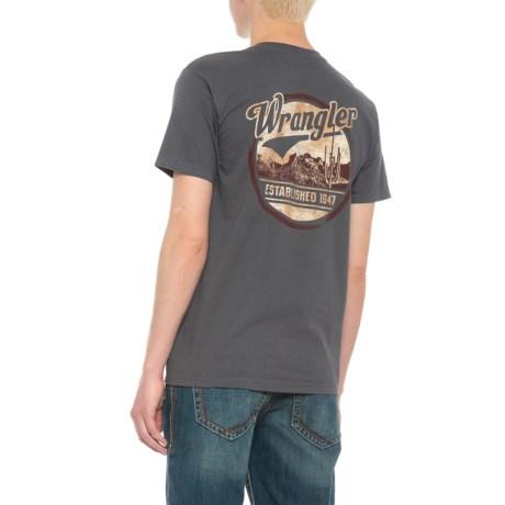 Wrangler Established 1947 T-Shirt - Short Sleeve (For Men) in Charcoal