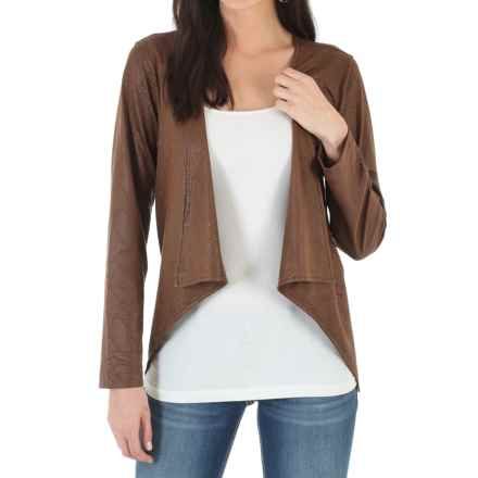Wrangler Faux-Suede Printed Jacket (For Women) in Carafe Brown - Closeouts