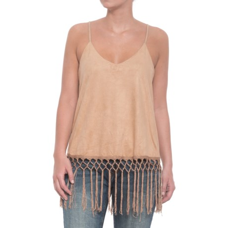 Wrangler Faux-Suede Strappy Tank Top (For Women) in Stone