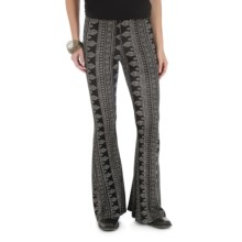 Wrangler Fit & Flare Palazzo Pants (For Women) in Black/Cream - Closeouts