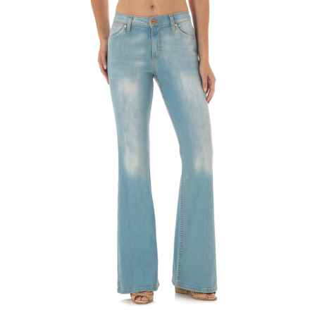 Wrangler Flared Leg Jeans - High Waist (For Women) in Washed Out - Closeouts