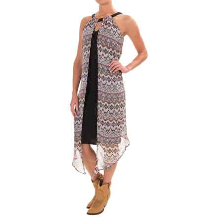Wrangler Fly Away Midi Dress - Sleeveless (For Women) in Lilac Print - Closeouts