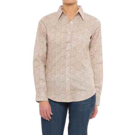 Wrangler George Straight Woven Paisley Shirt - Long Sleeve (For Women) in Tan/Cream - Closeouts