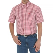 Wrangler George Strait Collection Printed Shirt - Short Sleeve (For Men and Big Men) in Red - Closeouts