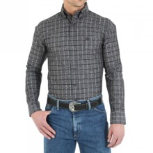 Wrangler George Strait Collection Western Shirt - Long Sleeve (For Men) in Blackberry - Closeouts