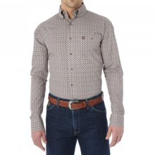 Wrangler George Strait Collection Western Shirt - Long Sleeve (For Men) in Chestnut - Closeouts
