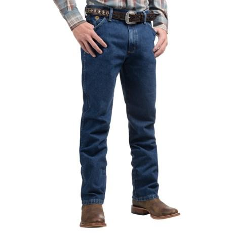 Wrangler George Strait Cowboy Cut® Jeans - Original Fit (For Men) in Heavyweight Stone Denim