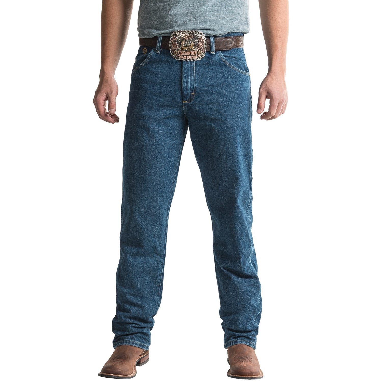 4110f623 Wrangler George Strait Cowboy Cut® Jeans - Relaxed Fit (For Men) in Heavy  ...