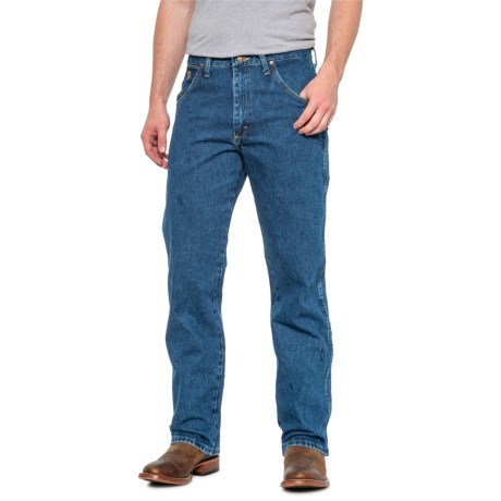 200dbff1 Wrangler George Strait Cowboy Cut® Relaxed Fit Jeans (For Men) in  Heavyweight Stone