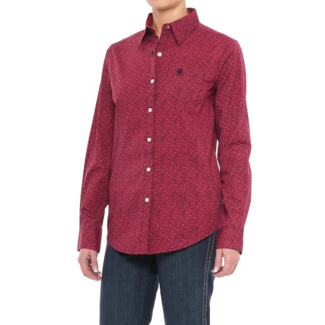 Wrangler George Strait Mini-Paisley Woven Shirt - Long Sleeve (For Women)