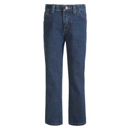 Wrangler George Strait Original Cowboy Cut® Jeans (For Big and Little Boys) in Heavyweight Stone Denim - Closeouts