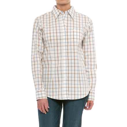 Wrangler George Strait Plaid Shirt - Long Sleeve (For Women) in Cream/Tan/Blue - Closeouts