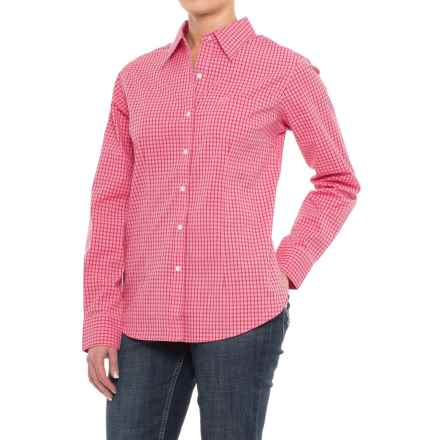 Wrangler George Strait Plaid Shirt - Long Sleeve (For Women) in Pink/Red - Closeouts
