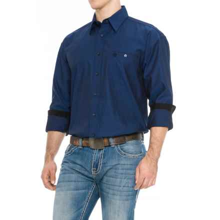 Wrangler George Strait Troubadour Jacquard Shirt - Snap Front, Long Sleeve (For Men) in Blue/Black - Closeouts