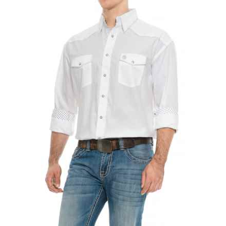 Wrangler George Strait Troubadour Jacquard Shirt - Snap Front, Long Sleeve (For Men) in White - Closeouts