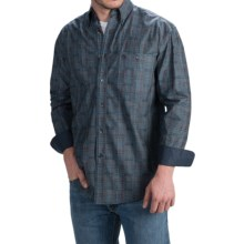 Wrangler George Strait Western Shirt - Long Sleeve (For Men and Big Men) in Charcoal/Blue/Red Plaid - Closeouts