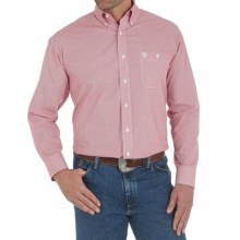 Wrangler George Strait Western Shirt - Long Sleeve (For Men and Big Men) in Red Print - Closeouts