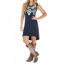 Wrangler Hi-Lo Aztec Sequin Dress - Sleeveless (For Women) in Navy - Closeouts