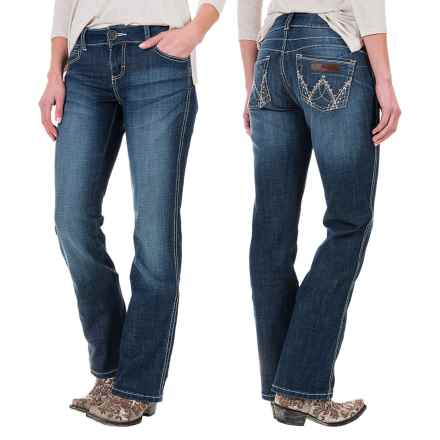 Wrangler Mae Booty-Up Bootcut Jeans (For Women) in Ct Wash
