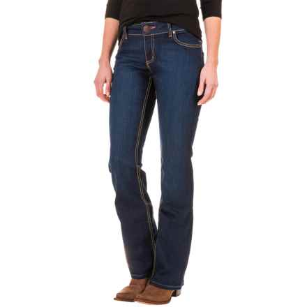 Wrangler Mae Booty-Up Bootcut Jeans (For Women) in Home Spun Denim - Closeouts