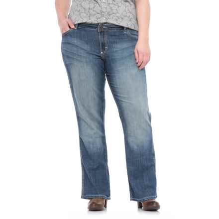 Wrangler Mae Booty Up® Jeans - Bootcut, Mid Rise (For Women) in Medium Blue - Closeouts