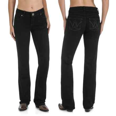 Wrangler Mae Booty-Up Jeans - Low Rise, Bootcut (For Women) in Black - 2nds