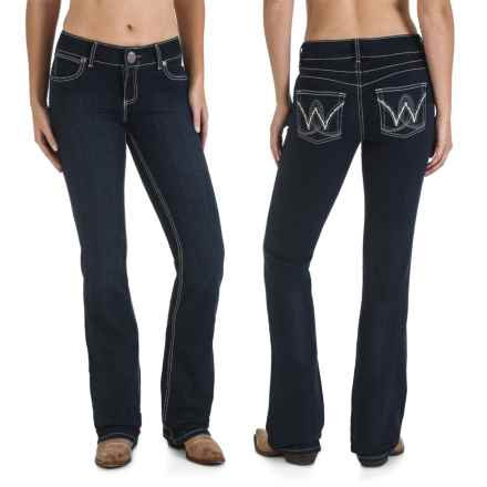 Wrangler Mae Booty-Up Jeans - Low Rise, Bootcut (For Women) in Carolina Breakaway - 2nds