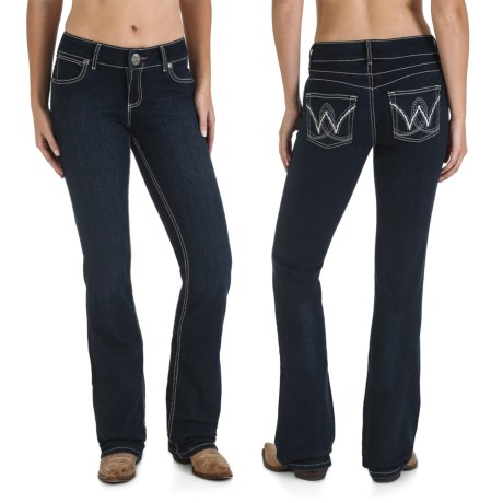 Wrangler Mae Booty-Up Jeans - Low Rise, Bootcut (For Women) in Carolina Breakaway
