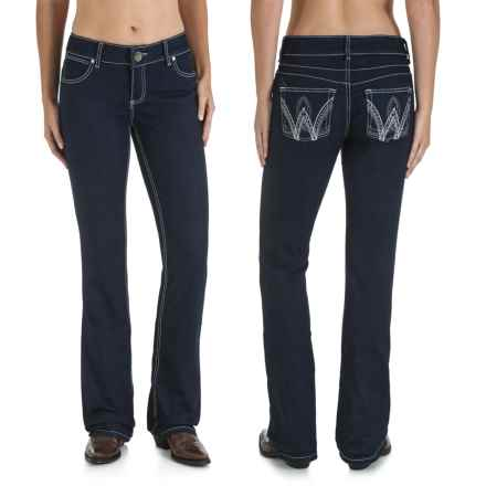Wrangler Mae Booty-Up Jeans - Low Rise, Bootcut (For Women) in Night Life - 2nds