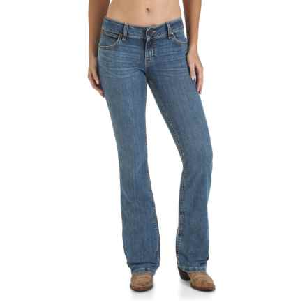 Wrangler Mae Booty-Up Jeans - Low Rise, Bootcut (For Women) in Retro Stone - 2nds