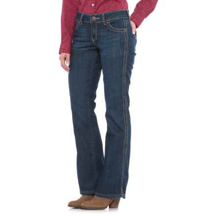 Wrangler Mae Mid-Rise Jeans - Bootcut, Stretch Denim (For Women) in Dark Denim - Closeouts