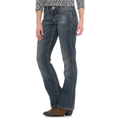 Wrangler Mae Mid-Rise Jeans - Bootcut, Stretch Denim (For Women) in Ir Wash