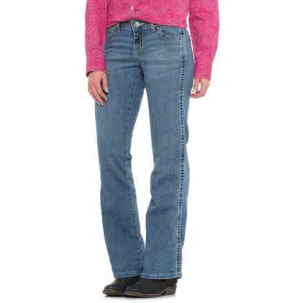 Wrangler Mae Mid-Rise Jeans - Bootcut, Stretch Denim (For Women) in Sundance - Closeouts