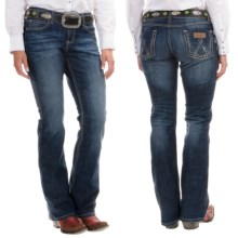 Wrangler Mae Premium Patch Jean - Low Rise (For Women) in Af Wash - 2nds