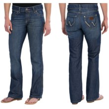 Wrangler Mae Premium Patch Jean - Low Rise (For Women) in Blue Frost - 2nds