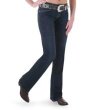 Wrangler Mae Premium Patch Jean - Low Rise (For Women) in Carolina Breakaway - 2nds