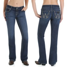 Wrangler Mae Premium Patch Jean - Low Rise (For Women) in Dk Wash - 2nds