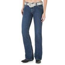 Wrangler Mae Premium Patch Jean - Low Rise (For Women) in Fa Wash - 2nds
