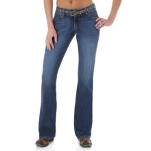Wrangler Mae Premium Patch Jean - Low Rise (For Women) in Gl Wash - 2nds