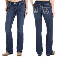 Wrangler Mae Premium Patch Jean - Low Rise (For Women) in Medium Wash - 2nds