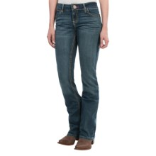 Wrangler Mae Premium Patch Jean - Low Rise (For Women) in Night Blue - 2nds
