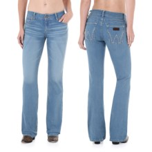 Wrangler Mae Premium Patch Jean - Low Rise (For Women) in Petrol Blue - 2nds