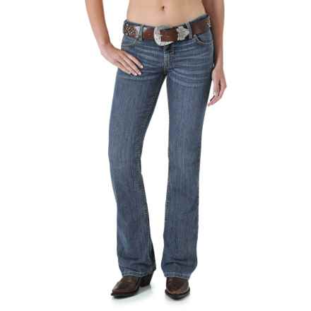 Wrangler Mae Premium Patch Jean - Low Rise (For Women) in Retro Stone - 2nds