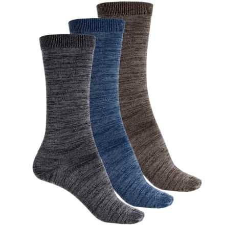 Wrangler Marl Flat Knit Socks - 3-Pack, Mid Calf (For Women) in Black/Denim/Brown - Closeouts