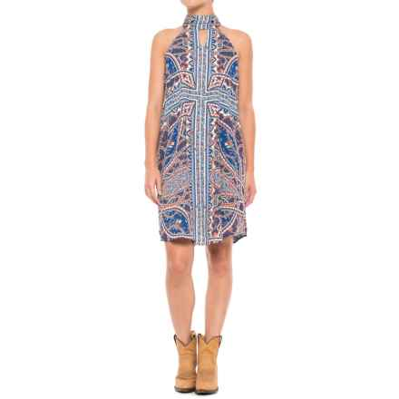 Wrangler Paisley Dress - Sleeveless (For Women) in Navy - Closeouts