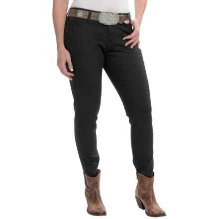 Wrangler Premium Patch Jeans - Ultra-Low Rise (For Women) in Bn Black - 2nds